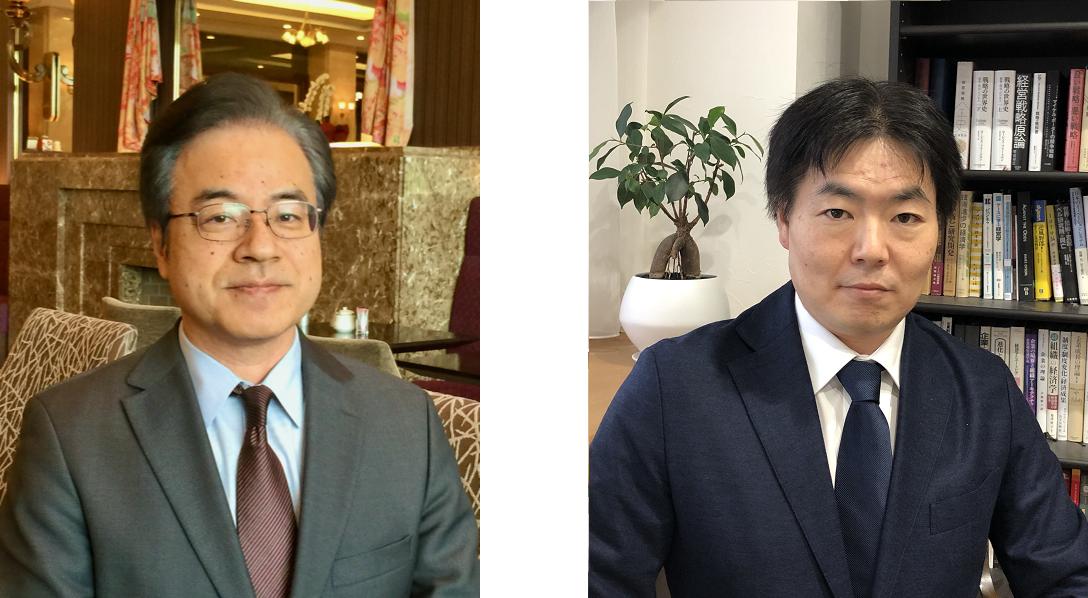 鈴木秀一先生(左)と林征治先生(右)